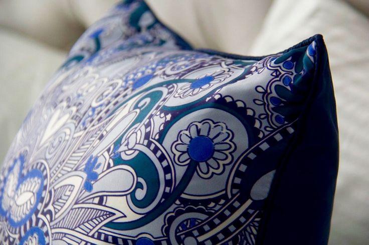 Blue Patterned Cushion