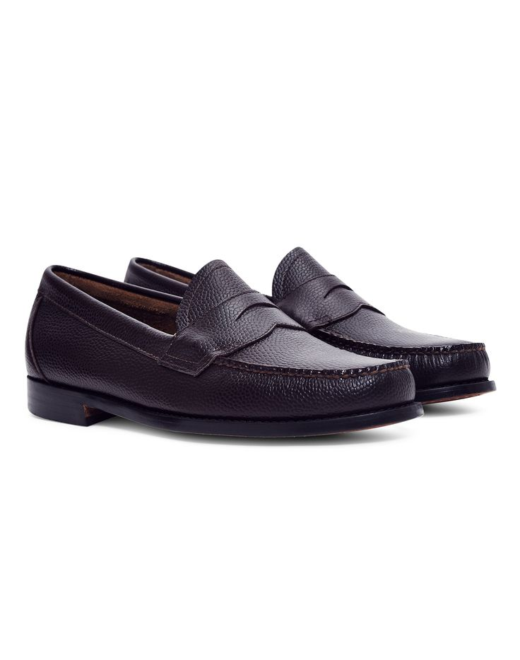 New In   G.H. Bass & Co. Logan Grain Penny Loafer in Burgundy   Shop