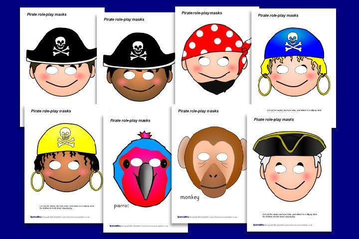 Pirate Role-Playing Masks