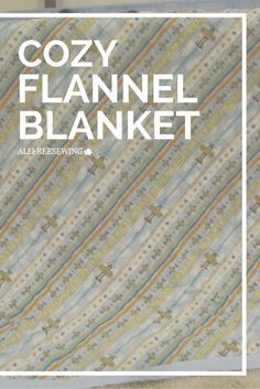 The coziest flannel blanket ever. Wait until you see the back!