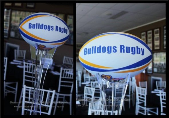 #rugbytheme #acrylicstand #rugbytablecentre #corporate #event #theming available at #poshdesignsweddings - #sydneyfunctions #southcoastfunctions #wollongongfunctions #canberrafunctions #southernhighlandfunctions #campbelltownfunctions #penrithfunctions #bathurstfunctions #illawarrafunctions All stock owned by Posh Designs Wedding & Event Supplies – lisa@poshdesigns.com.au or visit www.poshdesigns.com.au or www.facebook.com/.poshdesigns.com.au