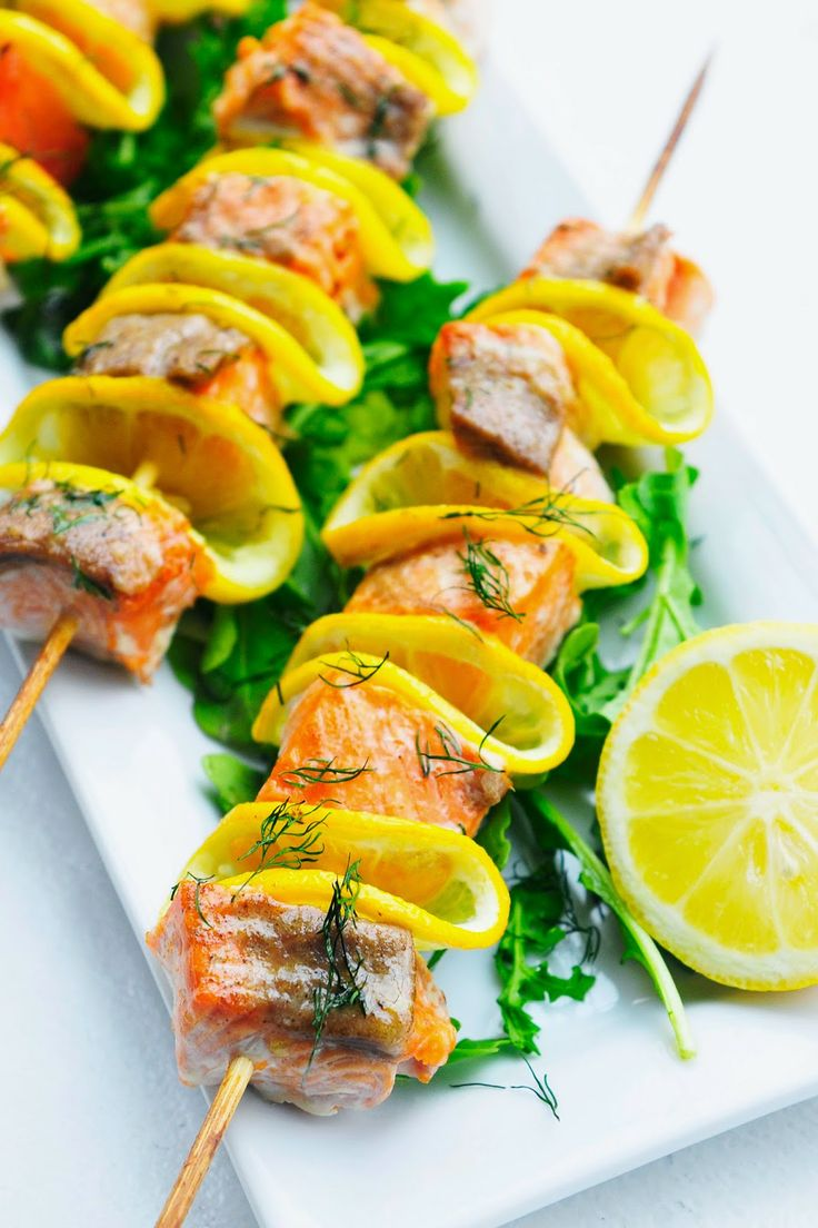 Simply Gourmet: Citrus, Dill and Salmon Kabobs