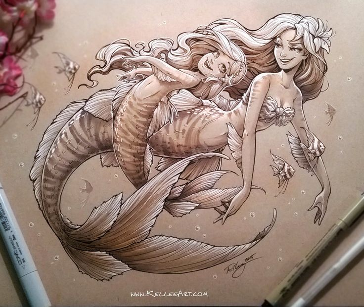 Mother and Daughter Mermaid 2 by KelleeArt on DeviantArt