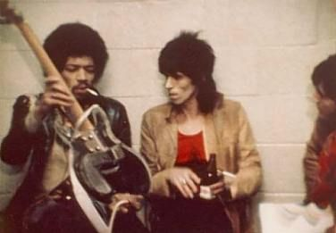 Jimi Hendrix & Keith Richards - Two legends caught in a rare moment discussing their passion for guitars and music