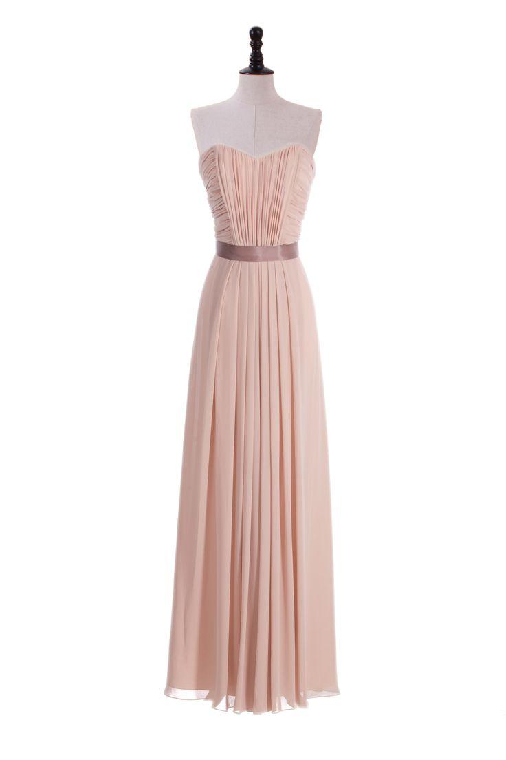 Crinkle Chiffon Shirred Dress with Ribbon Sash