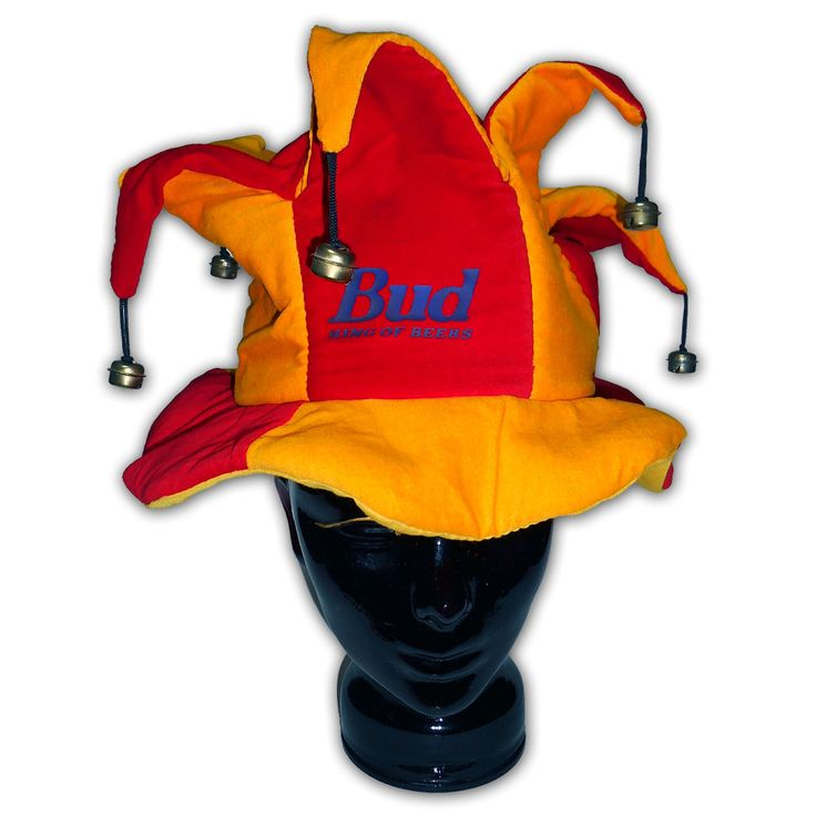 € 14,99 + s.s. http://stores.ebay.it/beerbazar  Cappello Bud USA Birra Jolly Giullare Campanelli Carnevale Festa Budweiser King