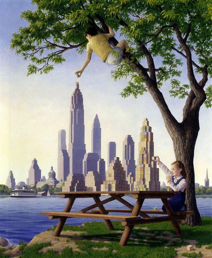 O Canadense Rob Gonsalves combina o surrealismo ilustrativo de René Magritte, a matemática de M.C.Escher e transforma a pintura em uma experiência bem divertida para o espectador. O interesse de Gonsalves pela arte e a pintura surgiu ainda na infância.Com 12 anos ele já tinha certa experiência com a técnicas e perspectivsa da arte arquitetônica.A (...)