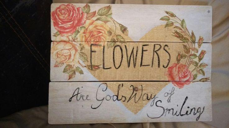 Diy flowers palett