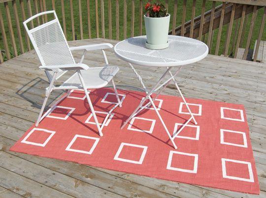 burlap rug diy - under $fifteen