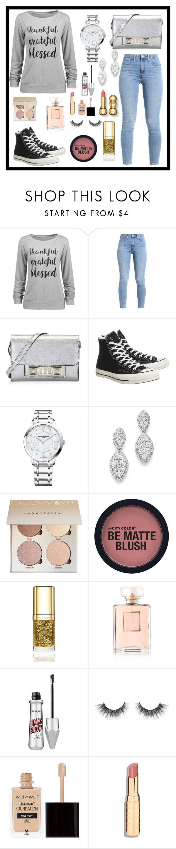 """""""Love"""" by natalie83322 ❤ liked on Polyvore featuring Proenza Schouler, Converse, Baume & Mercier, Bloomingdale's, Dolce&Gabbana, Chanel and Wet n Wild"""