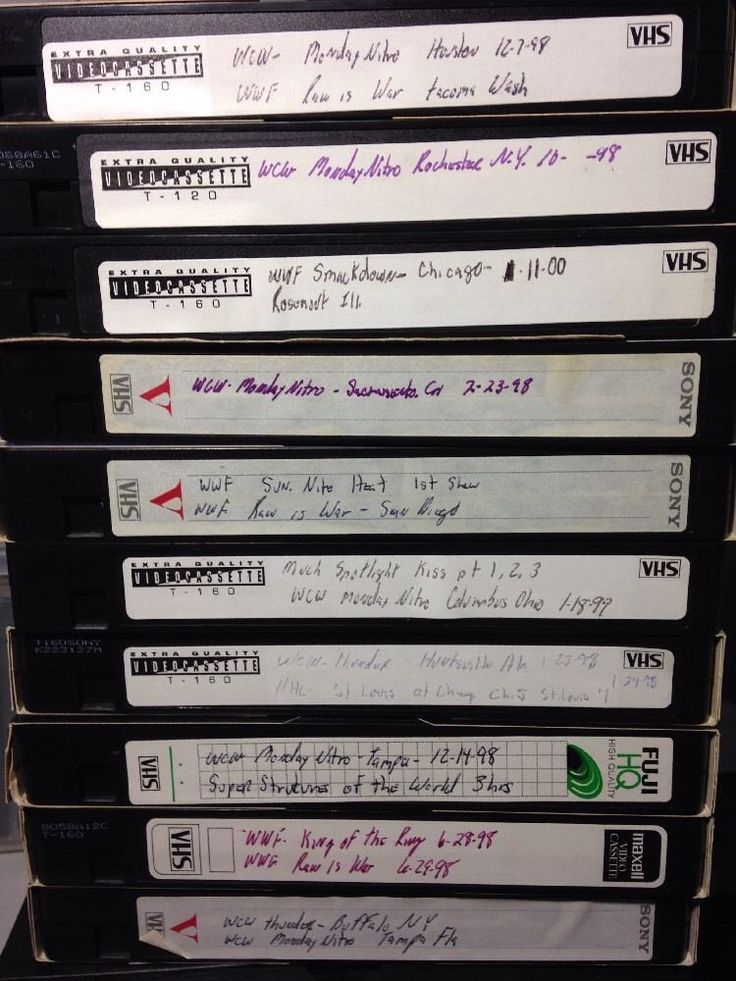 Lot of 10 Wrestling VHS Tapes sold as blanks WWF WCW RAW Nitro King of Ring PPV