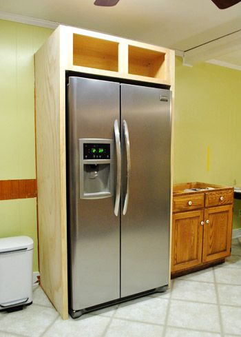 fridge in kitchen cabinet. how to build in your fridge with a cabinet on top kitchen