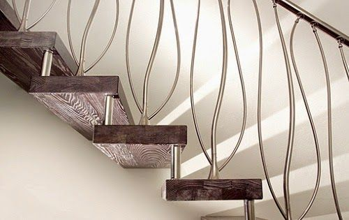 Лестница в частном доме, дизайн, фото