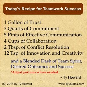 Ty Howard's Teamwork Quotes, Quotes on Team Building