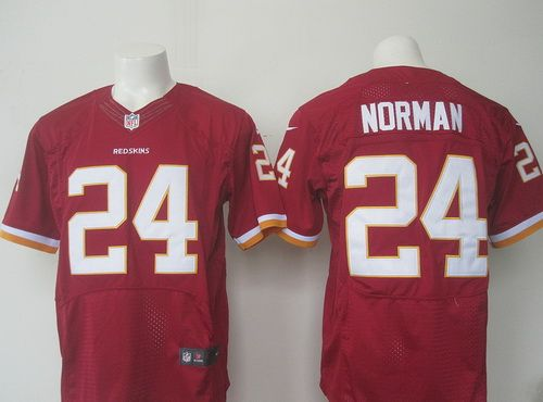 Men's Washington Redskins #24 Josh Norman Burgundy Red Team Color NFL Nike Elite Jersey