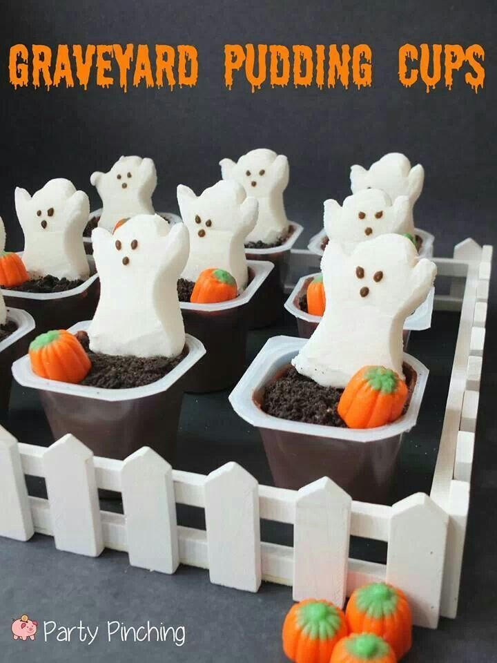 graveyard pudding cups - so dang CUTE!