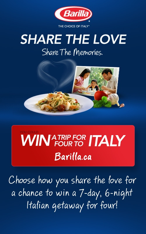 Choose how you share the love for a chance to win a 7-day, 6-night Italian getaway for four!