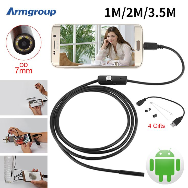 Endoskop 7mm 1 M 2 M 3.5 M USB Android Kamera Endoskopi Inspeksi Kamera IP67 Telepon OTG USB Endoscoop kamera Borescope Endoscopio