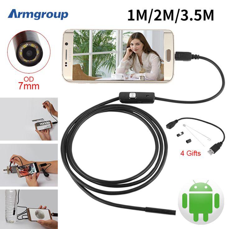 Endoskop 7mm 1 M 2 M 3.5 M USB Android Kamera Endoskopi Inspeksi Kamera IP67 Telepon OTG USB Endoscoop kamera Borescope Endoscopio