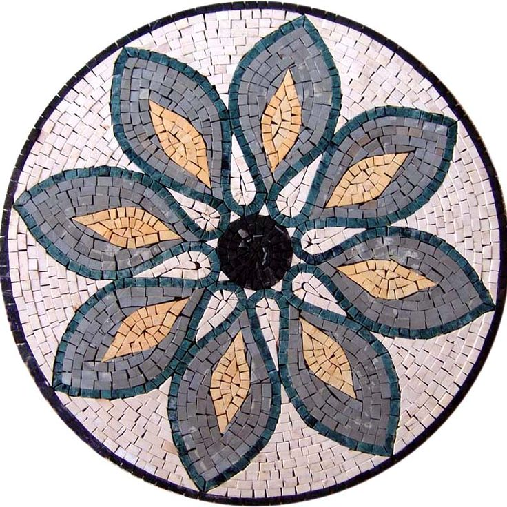 Floral Marble Mosaic