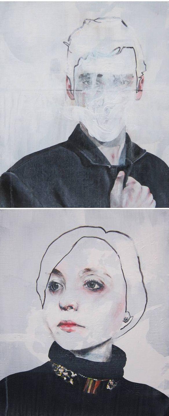 haunting portraits by Antoine Cordet