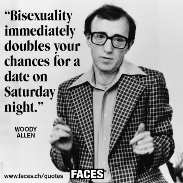 Woody Allen Quote-Bahahahaaaa! He has a point! just makes me chuckle because he's so not attractive!