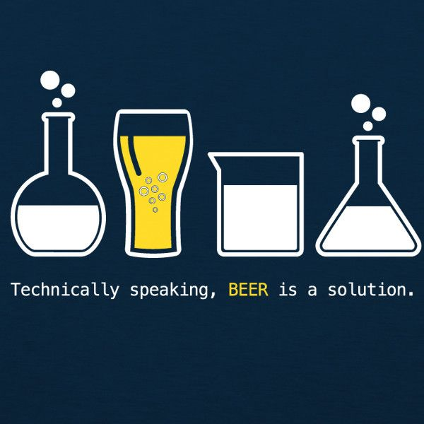 Beer is a Solution WOMENS T-Shirt by Craft Brewed Clothing