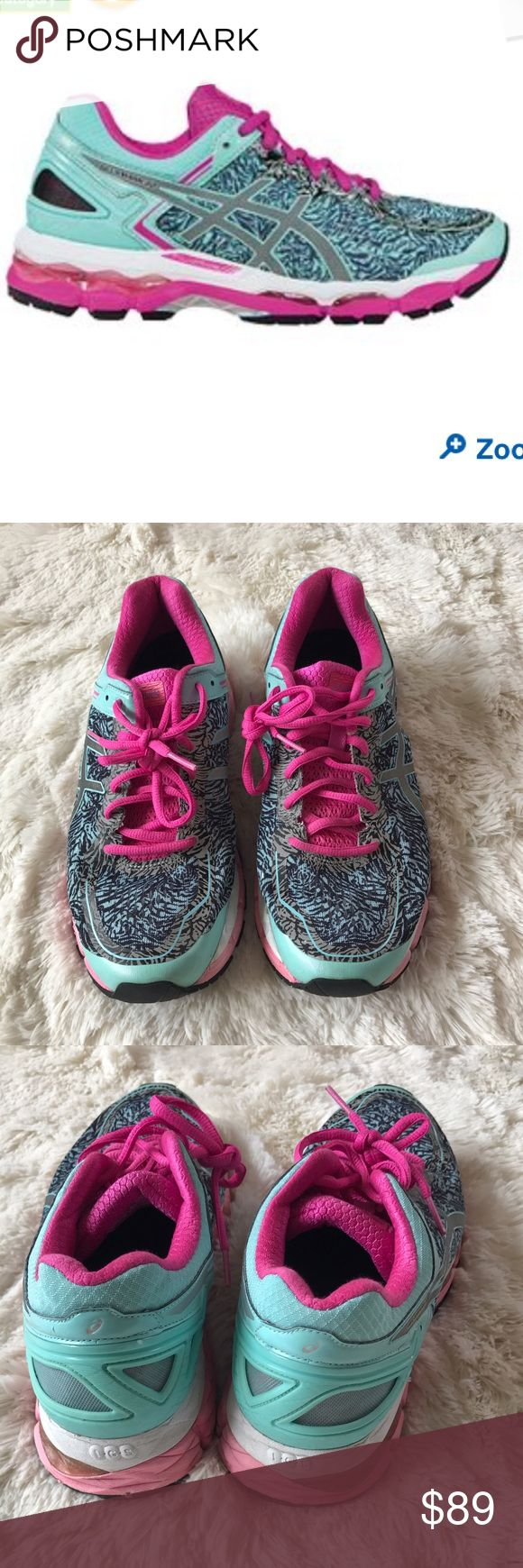 Asics Gel-Kayano 22 9.5 lite show aqua silver pink Asics running shoes in good condition size 9.5 Asics Shoes Athletic Shoes