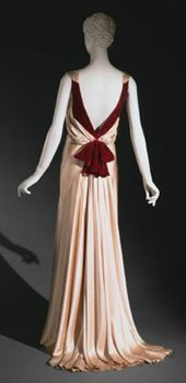Woman's Evening Dress    Made in France  c. 1933    Designed by Augusta Bernard, French, 1886 - 1946. Designed for Augustabernard, Paris, 1923 - 1935. Imported by Thurn, New York and Paris.