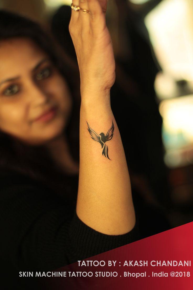 Small Phoenix tattoo by: Akash Chandani Skin Machine Tattoo Studio @skinmachine…