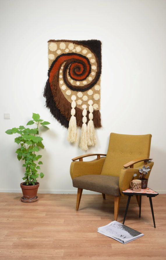 Large 1970's Fiber Art Wallhanging