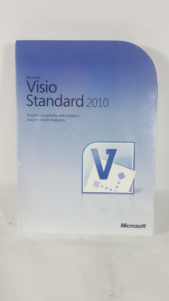Microsoft Visio Standard 2010 Full Version  Sealed New
