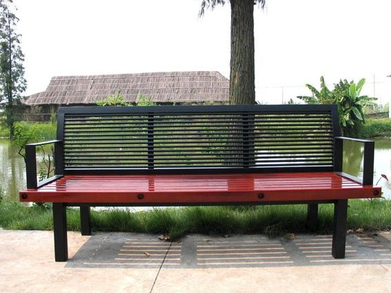 Metal And Hardwood Bench Wooden Bench Park Furniture, View Wooden Bench  Park, Gavin Product