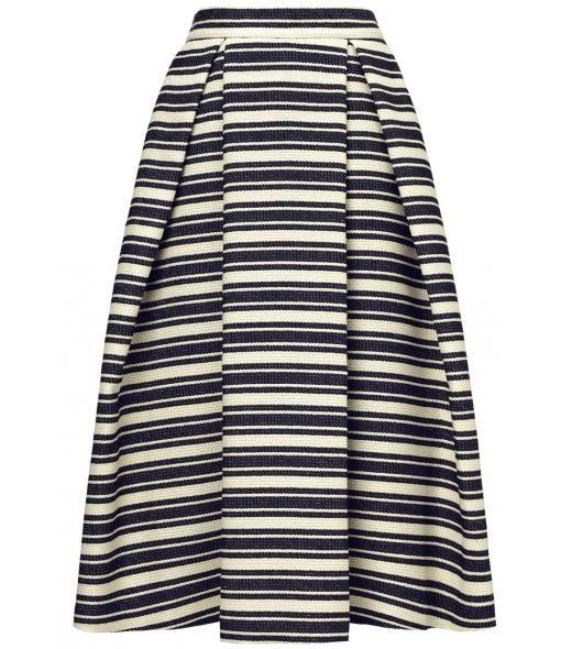 Ivy Stripe Midi Skirt