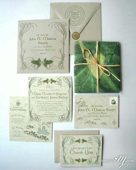 LOTR wedding invitations