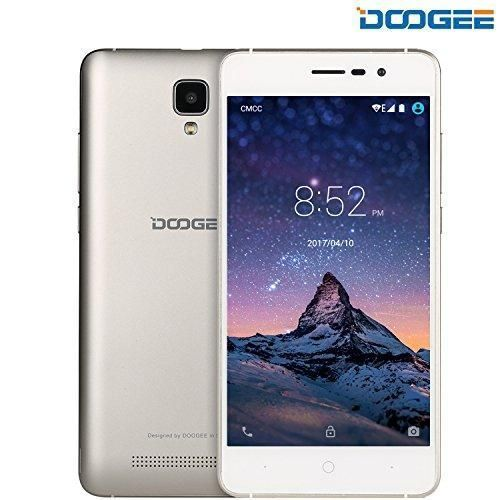"Unlocked Smartphones, DOOGEE X10 GSM International Phone - 5.0"" IPS Display - Android 6.0 - 8GB ROM - 2MP+5MP Dual Camera - 3360mAh Battery - Dual Sim Unlocked Cell Phones - Gold(no ads) #UnlockedCellPhones #SmartphoneAds"