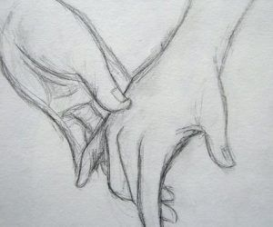 Couple Holding Hands Drawing Images