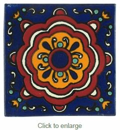 Mexican Talavera Tile - PP2183 - 15 Handpainted Tiles