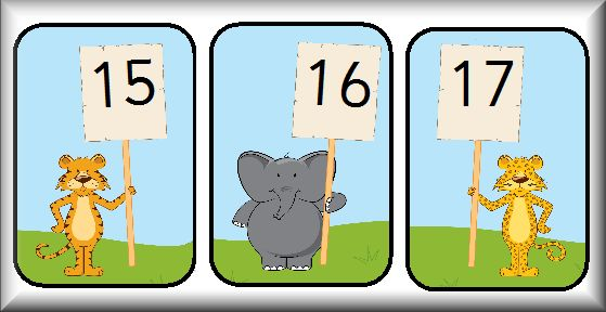 Here's a set of animal number cards from 0-30.