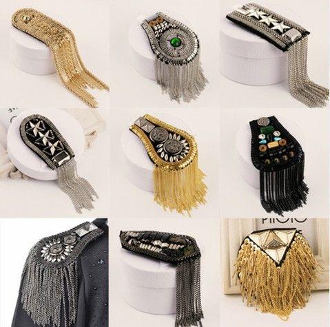 Epaulette spikes brooches new 2015 handmade punk jewelry men blazer accessories wholesale/scapular/epaulets/shoulder/bijuterias-inBrooches from Jewelry on Aliexpress.com | Alibaba Group