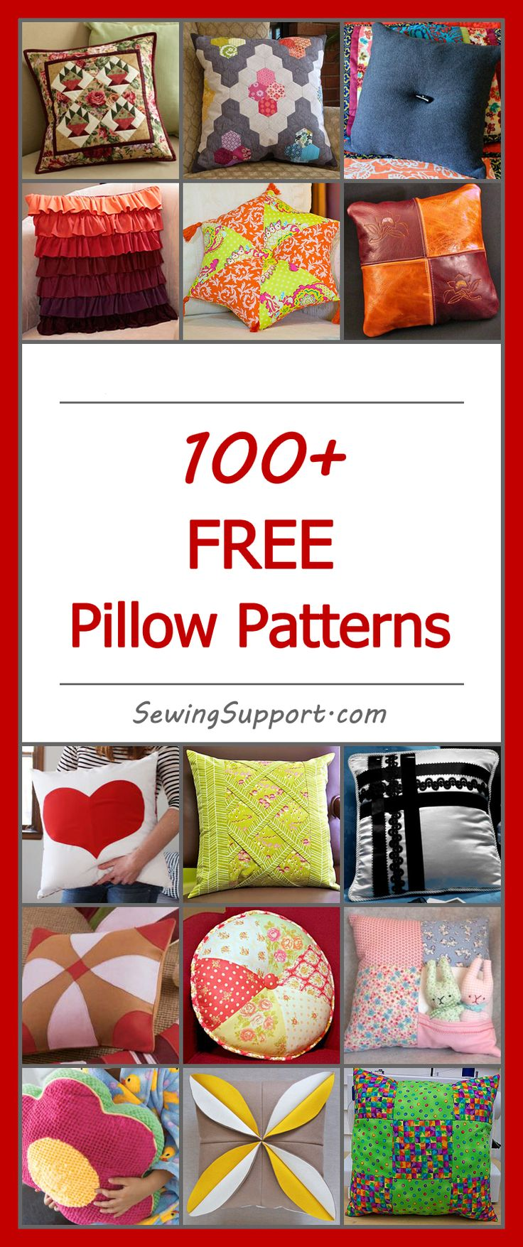 Lots of free pillow patterns. Decorative pillow sewing projects | Pillow tutorials | Pillow DIY | Sewing for the Home