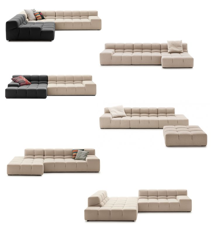 TUFTY-TIME Collection. System modular sofa (compositions). B&B Italia | Design by Patricia Urquiola