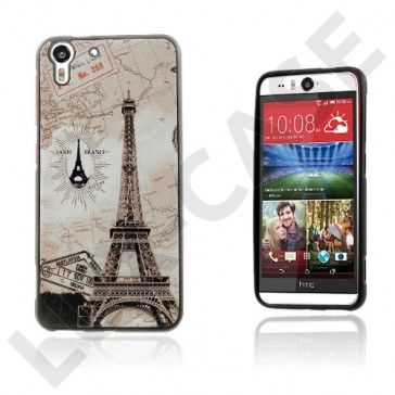 Westergaard HTC Desire Eye Suojakuori – Eiffel-Torni Ja Maailmankartta