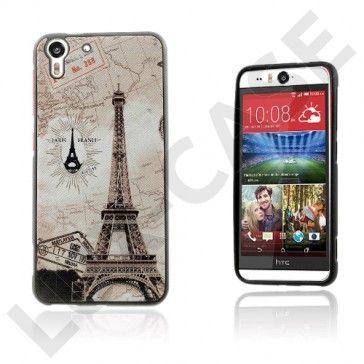 Westergaard HTC Desire Eye Deksel – Eiffel Tårn And verdens kart