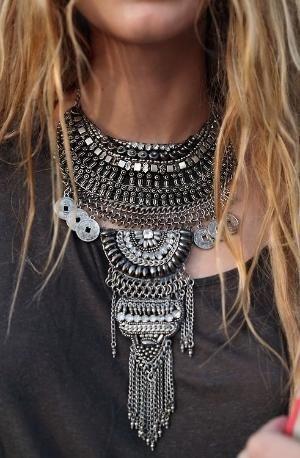 Artystyczny naszyjnik biżuteria boho hippie przez ashleyw