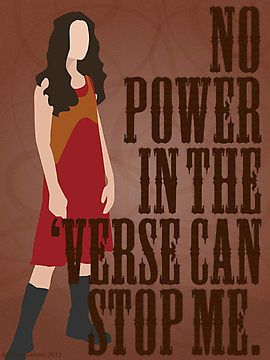 """""""River Tam - No Power In The 'Verse Can Stop Me"""" Photographic Prints #Firefly #Serenity"""