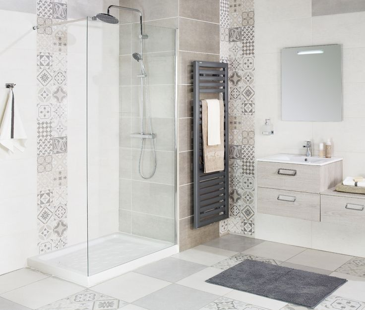 Paroi de douche droite 120 cm Concerto - La salle de bains Cedeo