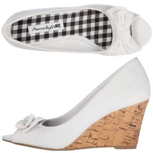 Payless White Heels ~ Low Heel Sandals