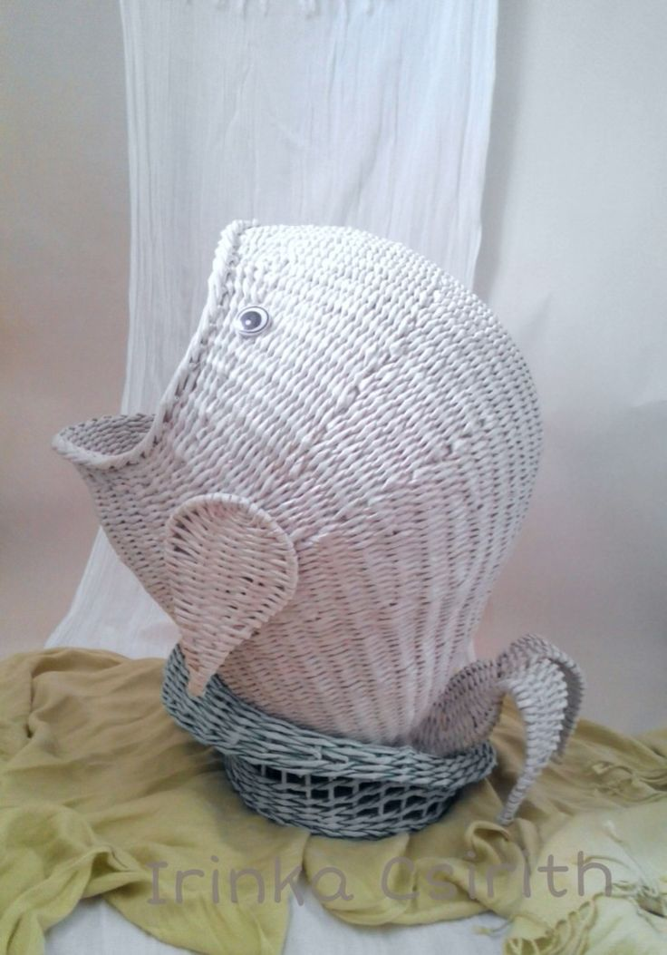 Wicker whale-fish. More photo vk.com/pletenki-irinki