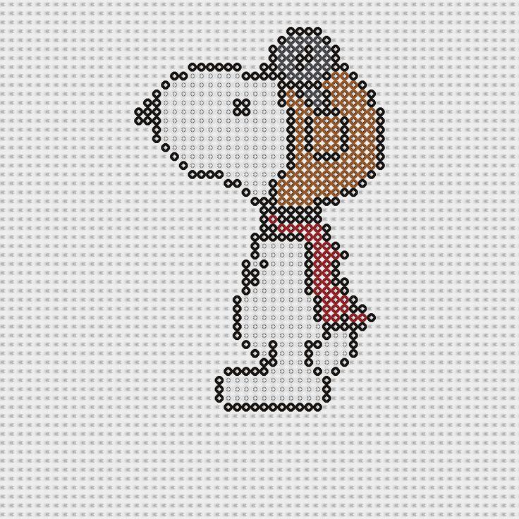 Plantillas Hama Beads - Snoopy aviador (Snoopy) www.tuburbuja.es